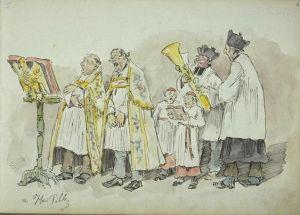 les chantres de l'église